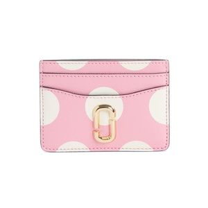 NWT! Marc Jacobs Dot Leather Card Case Primrose